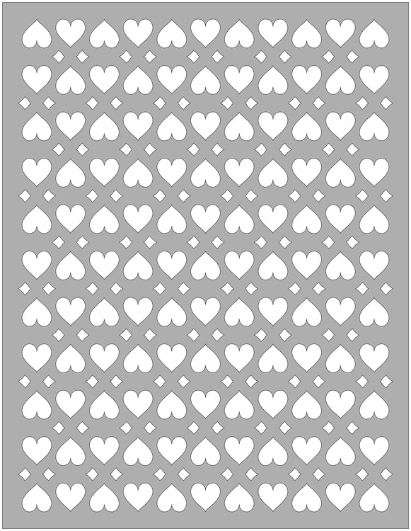 32105 - Stencil Lazerdesign  Hjärtan