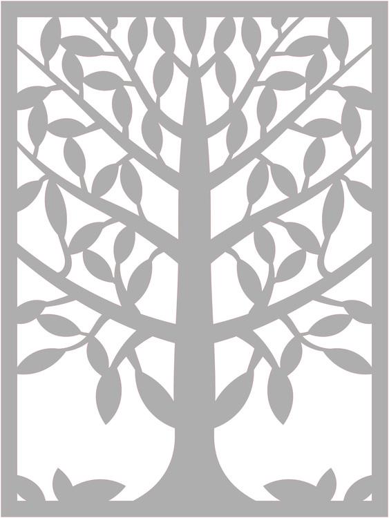 32128- Stencil Lazerdesign  Träd