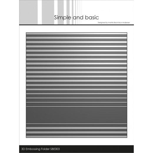 SBE003- Embossingfolder  stripes  3D