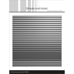 SBE003- Embossingfolder  stripes  3D