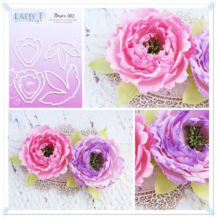 FLOWER 002- DIES Lady E blommor