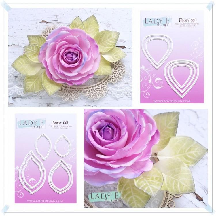 FLOWER 003- DIES Lady E blommor