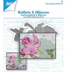6002/1468 Joy Dies Hummingbird & Hibiscus