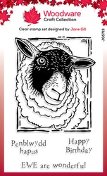 JGS713-Woodware Clearstamp Lino Cut sheep