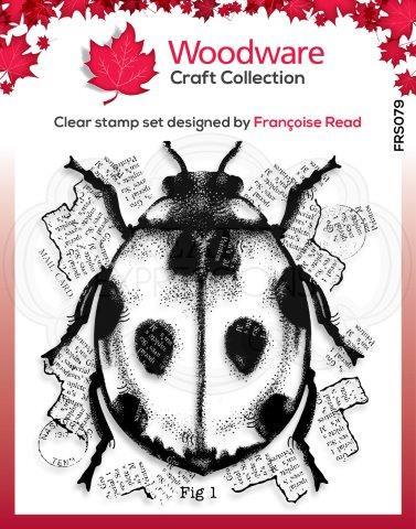FRS079-Woodware Clearstamp Ladybird