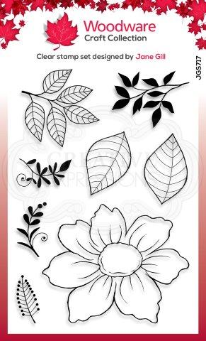 JGS717-Woodware Clearstamp Dog Rose