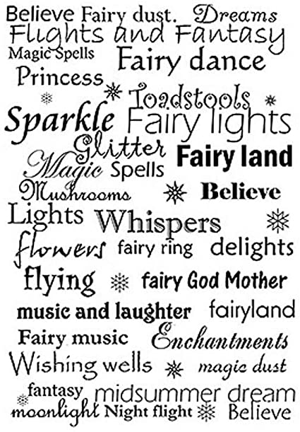 LAV025 -Clearstamp Text Fairy Words
