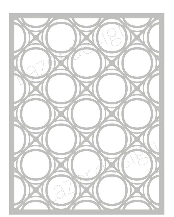 32118 - Stencil Lazerdesign Ringmönster