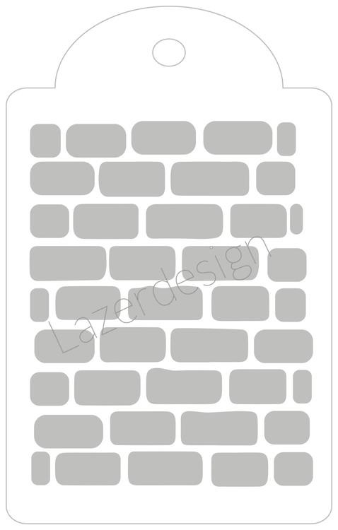 3220 - Stencil Tag tegelstenar