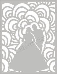 32111 - Stencil  Träd Brudpar