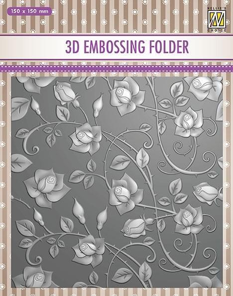 EF3D011- Embossingfolder  Roses