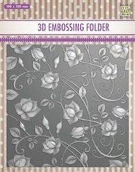 EF3DO11- Embossingfolder  Roses