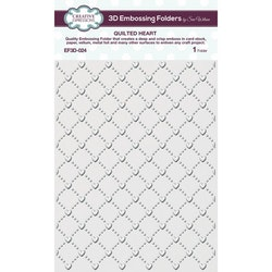 EF3D-024- Embossingfolder  quilted Heart