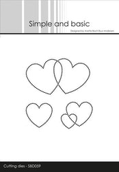 SBD059 Dies  Dotted heart embossar