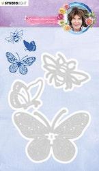 JBS01 Dies  Fjärilar och humla