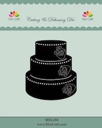 MDL004 DIES Bröllopstårta
