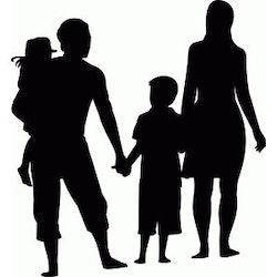 1567-Gummistämpel Familj