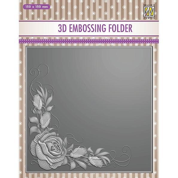 EF3DO12- Embossingfolder  Rose Corner