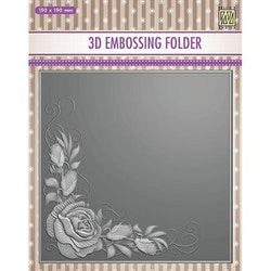 EF3DO12- Embossingfolder  Rose Corner