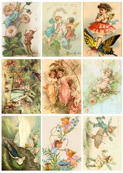 KP0008 Klippark A4 fairies