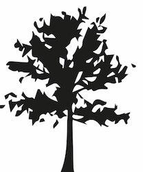 1516-Gummistämpel Träd