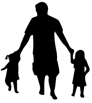 1548-Gummistämpel Pappa m barn