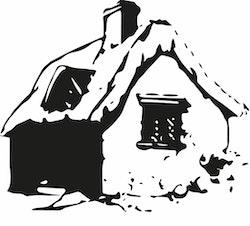 1491-Gummistämpel  Hus stort
