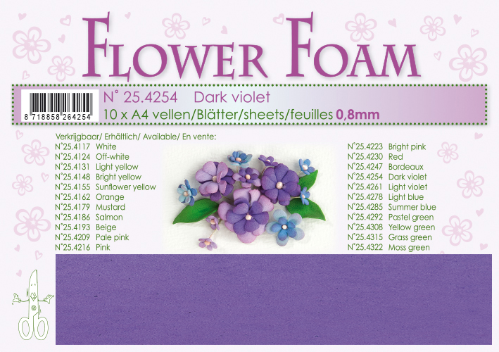 4254- Mörk Violet Foamiran 1 st