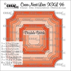 CLNESTXXL96 Dies Ticket square with stitch