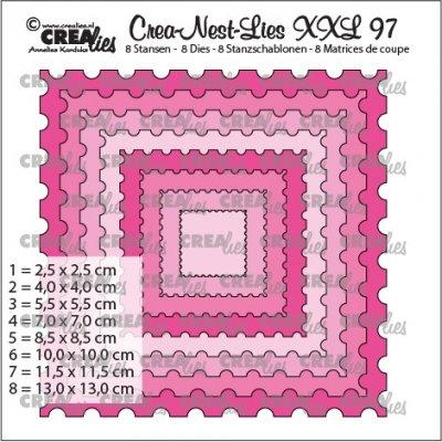 CLNESTXXL97 Dies Ticket stamp square