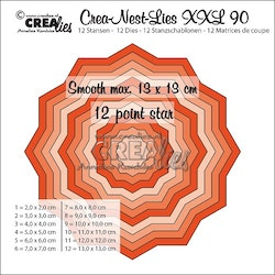 CLNESTXXL90 Die 12 point star