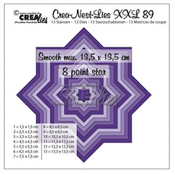 CLNESTXXL89 Die 8 point star