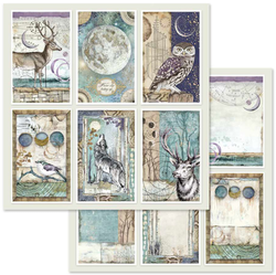 SBBS11- Stamperia Paper pad Cosmos 8x8