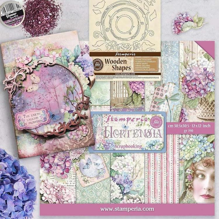 SBBL62- Stamperia Hortensia Paper pad 12x12