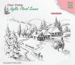 IFS026 Clearstamp Idyllic wintery scene