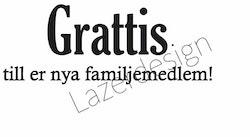 685 stämpel Grattis till er nya familj......