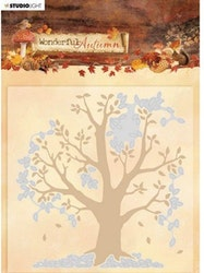 EMBWA05 Embossingfolder & dies Wonderful Autumn