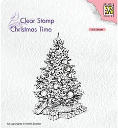 CT035 Clearstamp Cristmas tree