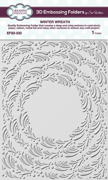 EF3D-033 Embossingfolder 3D Winter Wreath
