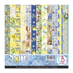 CBQ033 Sicilia pappersblock 6x6