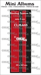 CLMA03Dies Mini albums Binder 3 mm spine