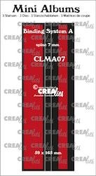 CLMA07 Dies Mini albums Binder 7 mm spine  kolla in filmen