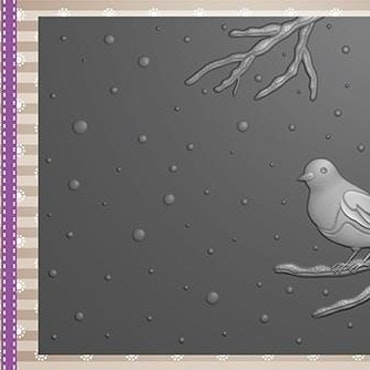 EF3D016 Bird on branch