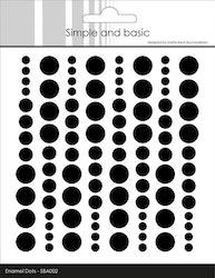 SBA002 Enamel dots Svart