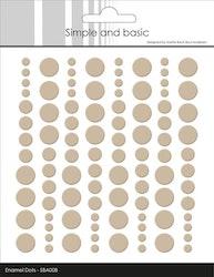 SBA008 Enamel dots Baileys brun