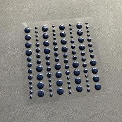 SBA006 Enamel dots Mörk blå