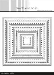 SBD086 Dies Innerscallop fyrkantig ram