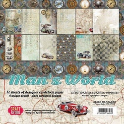 CPS-MAN30 Mans World  block 30,5 x 30,5 cm