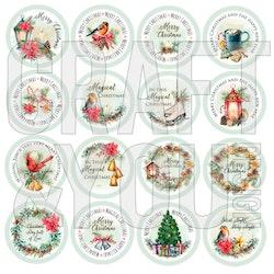 CP-CV11 Christmas vibes 16 utstansade motiv