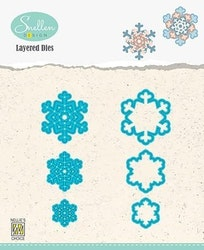 LDSF005 Layered Dies snowflakes